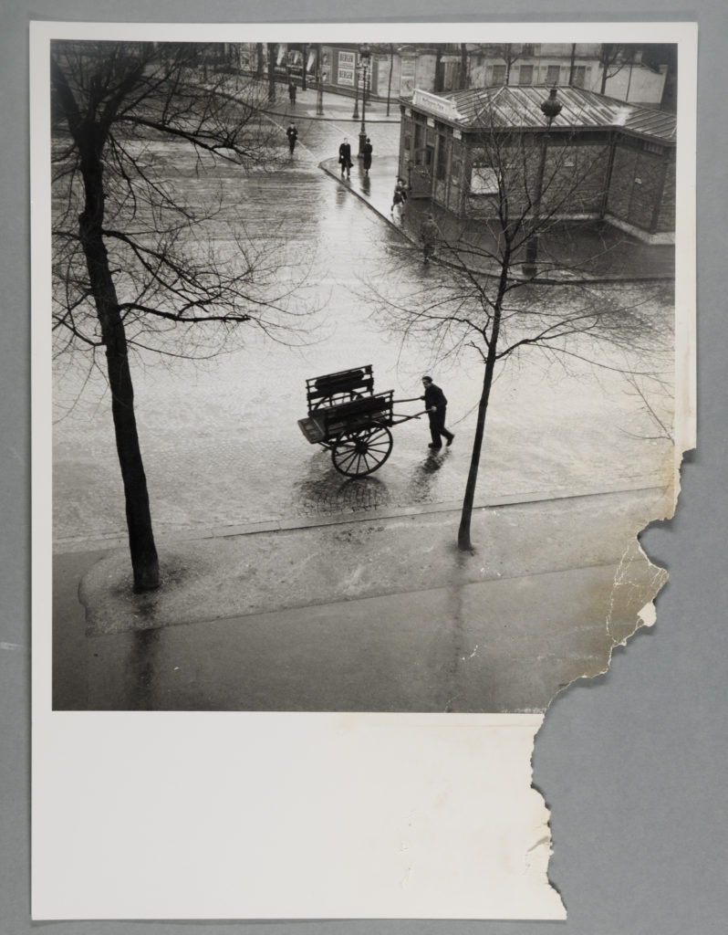 Savitry Bougnat Boulevard Saint Jacques - Before Treatment- Water damaged photograph