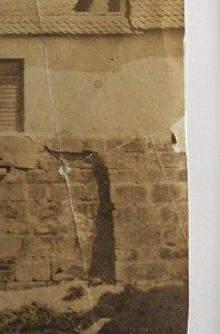 ENSBA – Before treatment – Teared photograph – Missing piece