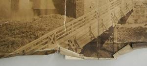 ENSBA – Before treatment – Teared photograph – Folded bottom edge