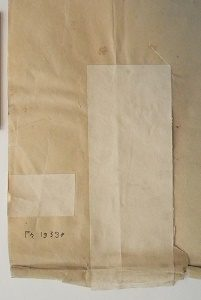 ENSBA – Before treatment – Teared photograph – Reinforcing paper