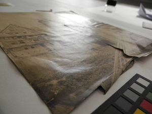ENSBA – Before treatment – Teared photograph – Surface Sheen