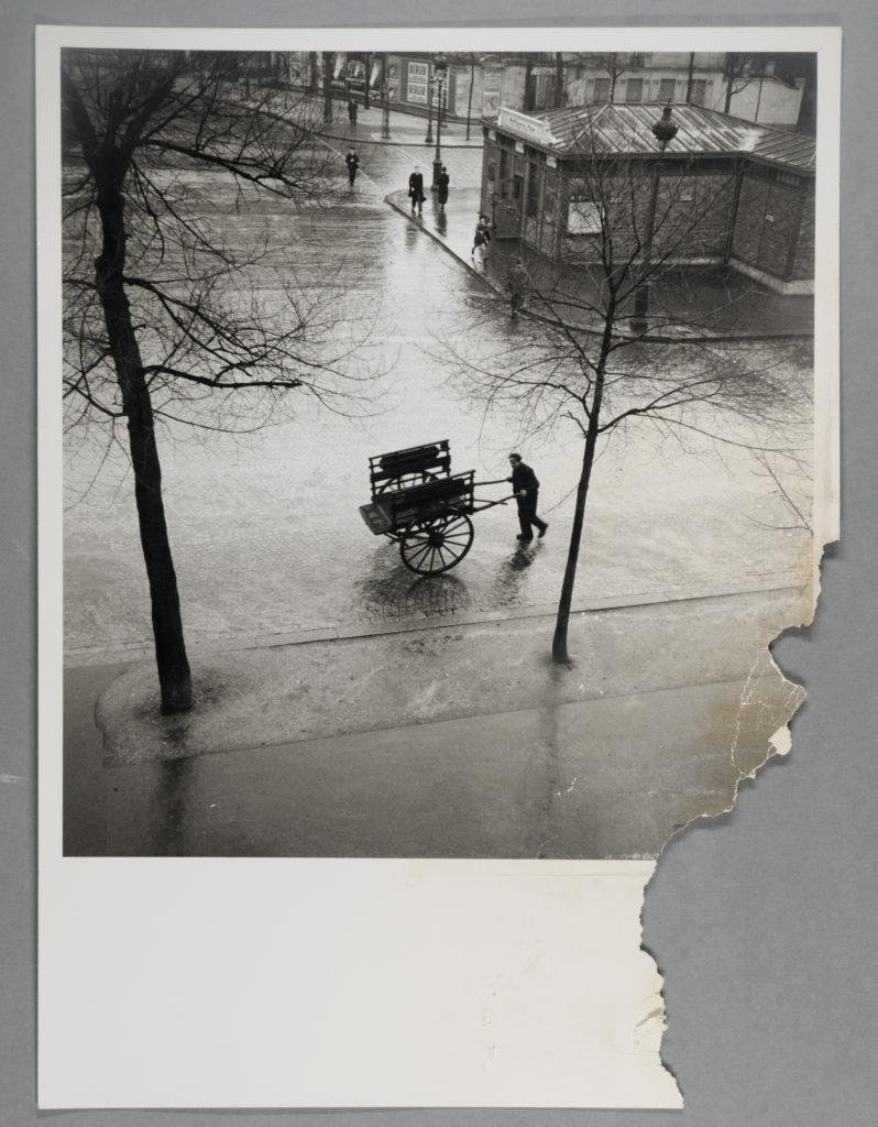 Savitry Bougnat Boulevard Saint Jacques - Before Treatment- Water damaged photograph